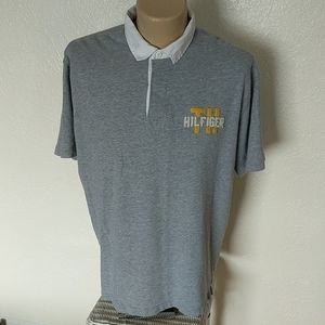 Vintage Tommy Hilfiger Mens XL Polo Spellout Shirt